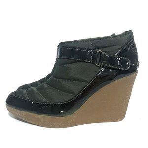 Libby Edelman Fayina Green Wedge Ankle Booties
